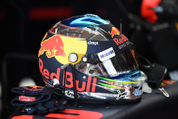 El casco de Daniel Ricciardo, Red Bull Racing RB13
