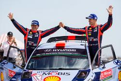Third place Dani Sordo, Marc Marti, Hyundai i20 WRC, Hyundai Motorsport