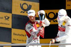 Podio: Mattias Ekström, Audi Sport Team Abt Sportsline, Audi A5 DTM
