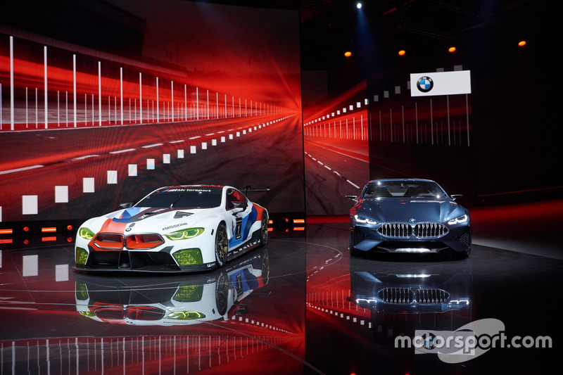 BMW M8 GTE with BMW 8-series