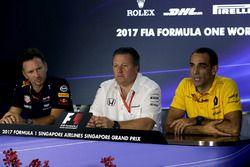 Christian Horner, Red Bull Racing Takım Patronu, Zak Brown, McLaren CEO, Cyril Abiteboul, Renault Sp