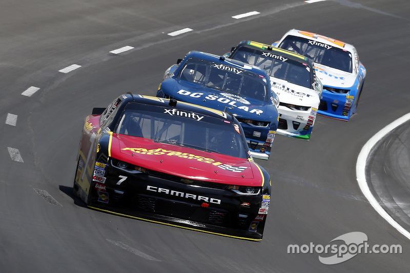 Justin Allgaier, JR Motorsports, Chevrolet; Brennan Poole, Chip Ganassi Racing, Chevrolet