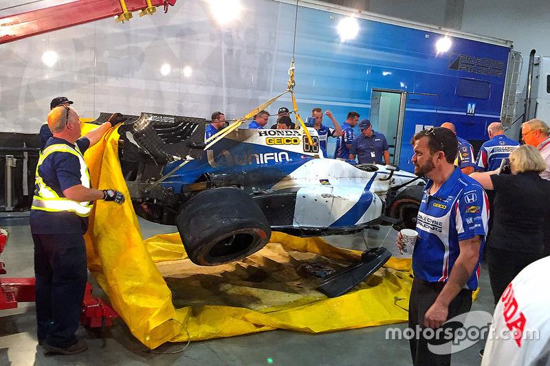 Unfallauto von Esteban Gutierrez, Dale Coyne Racing Honda