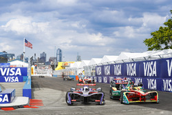 Sam Bird, DS Virgin Racing ve Daniel Abt, ABT Schaeffler Audi Sport
