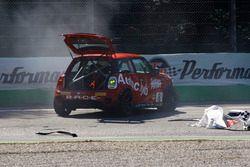 L'incidente di Maurizio Losi, Turbosport & Autoclub by AC Racing Technology