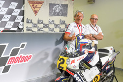 Marco Lucchinelli and Carmelo Ezpeleta, CEO of Dorna Sports