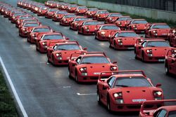 Ferrari F40 at the event of Ferrari Club Germany in 1992