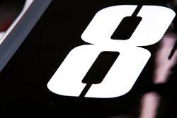 Startnummer 8 von Romain Grosjean, Haas F1 Team VF-17