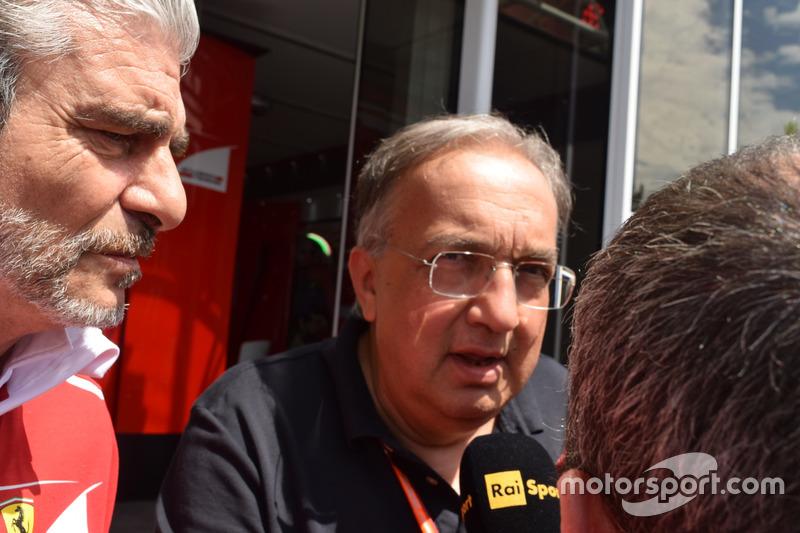 Maurizio Arrivabene Director del equipo Scuderia Ferrari, Sergio Marchionne, Presidente Ferrari y CEO