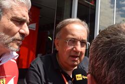 Maurizio Arrivabene, Team Principal Scuderia Ferrari, Sergio Marchionne, Presidente Ferrari e CEO di