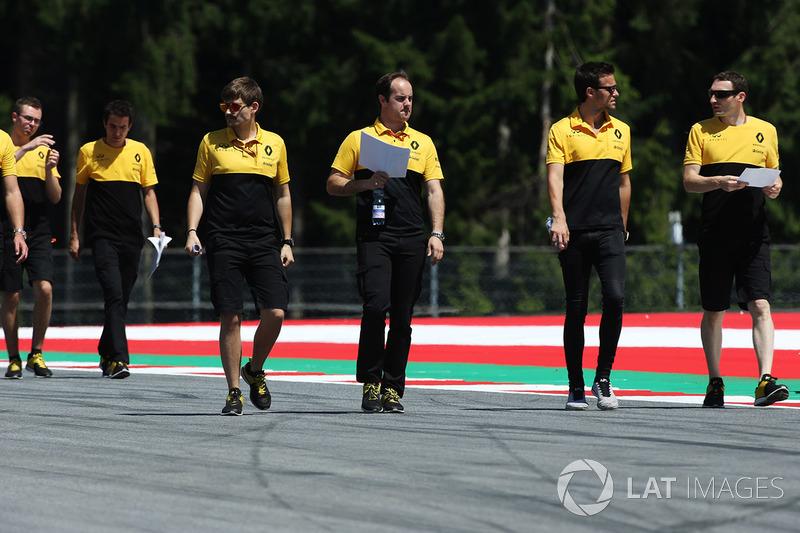 Teammitglieder: Renault Sport F1 Team