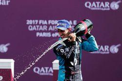 Podium : le vainqueur Sébastien Buemi, Renault e.Dams