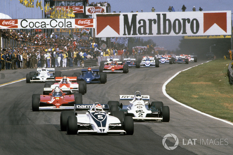 Start: Nelson Piquet, Brabham BT49C leads