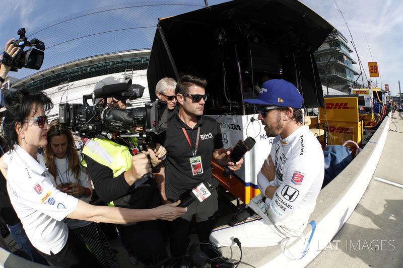 Fernando Alonso, Andretti Autosport Honda y los medios
