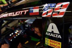 Nicky Hayden decal on the car of Chase Elliott, Hendrick Motorsports Chevrolet
