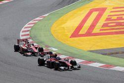 Alexander Albon, ART Grand Prix y Charles Leclerc, PREMA Powerteam
