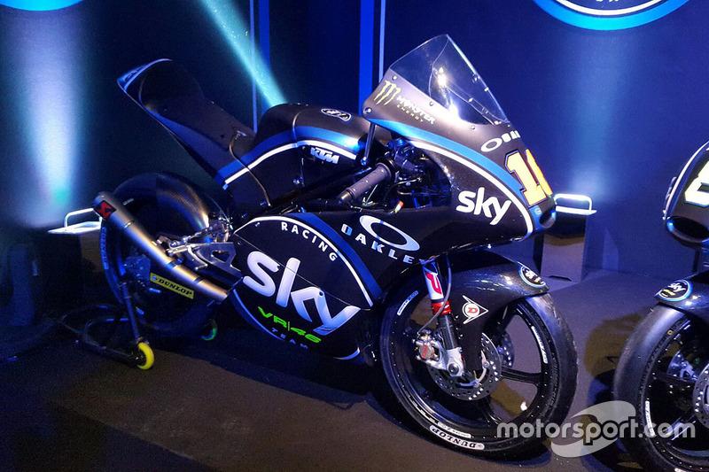 The Moto3 bike of Andrea Migno