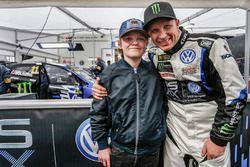 Petter Solberg, PSRX Volkswagen Sweden, VW Polo GTi, et son fils Oliver Solberg