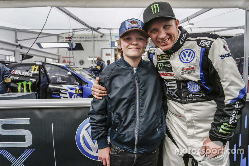 Petter Solberg, PSRX Volkswagen Sweden, VW Polo GTi met zoon Oliver Solberg