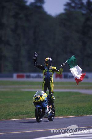 Il vincitore Valentino Rossi, Aprilia