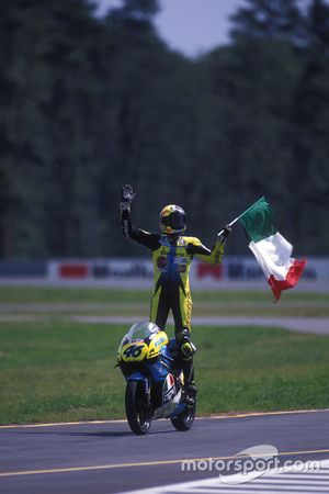 Valentino Rossi, Aprilia, vainqueur de la course