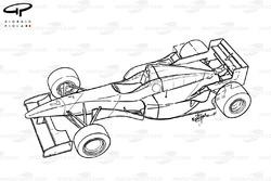 Vue d'ensemble de la McLaren MP4-11