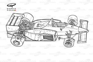 Vue d'ensemble détaillée de la Ferrari 126C4