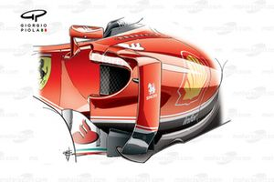 Новая конфигурация боковых понтонов Ferrari SF16-H