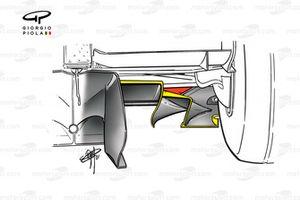 Ferrari F2001 diffuser side step