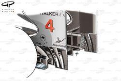 McLaren MP4/26 rear wing, German GP