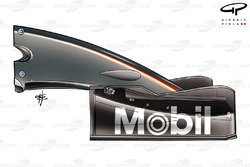 McLaren MP4-19 2004 front wing side view