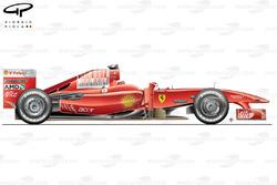 Ferrari F60, вид сбоку