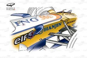 Renault R27 2007 chassis fins