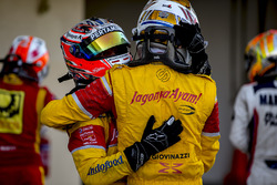 Le vice-champion GP2 2016 Antonio Giovinazzi, PREMA Racing, Mitch Evans, Pertamina Campos Racing