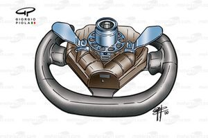 Prost AP03 2000 Alesi steering wheel