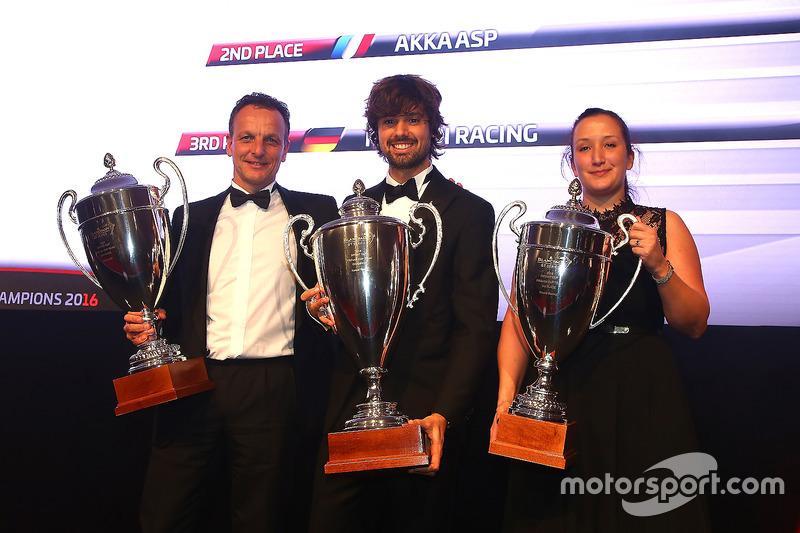 2016 Sprint Cup Pro-AM Cup equipos, Kessel Racing, campeón, AKKA ASP, segundo lugar, Rinaldi Racing, tercer lugar