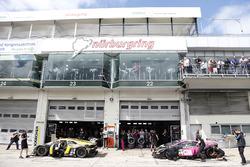 #6 HB Racing WDS Bau, Lamborghini Huracán GT3: Florian Spengler, Christopher Zanella und #7 HB Racin