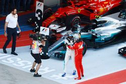 1. Valtteri Bottas, Mercedes AMG F1; 2. Sebastian Vettel, Ferrari SF70H