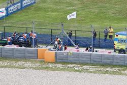 Alex Rins, Team Suzuki MotoGP, with medical staff after his crash