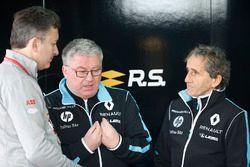 Alejandro Agag, CEO de Fórmula E con Alain Prost, gerente del equipo Renault e.Dams