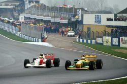 Ayrton Senna, McLaren MP4/8, Riccardo Patrese, Benetton B193B