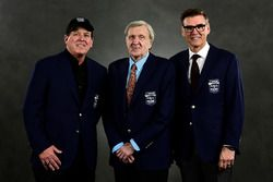NASCAR Hall of Fame inductees Ron Hornaday Jr., Ken Squier, and Ray Evernham
