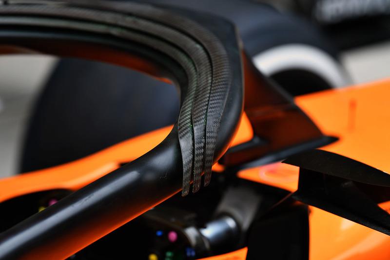 Vue détaillée du Halo de la McLaren MCL33
