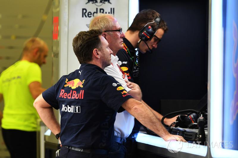 Christian Horner, Red Bull Racing Team Principal, Dr Helmut Marko, Red Bull Motorsport Consultant
