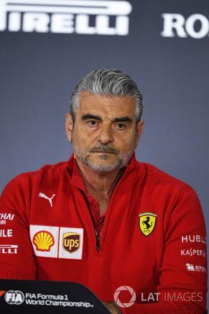 Maurizio Arrivabene, director de Ferrari, en la rueda de prensa de la FIA