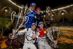 Podio: i vincitori della Nationcup Timo Bernhard, René Rast, al secondo posto Juan Pablo Montoya, He
