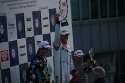 Podio Gara 2: il vincitore Nicola Baldan, Pit Lane, il secondo classificato Giacomo Altoè, Target, il terzo classificato Max Mugelli, Pit Lane