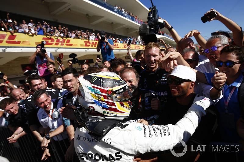 Ganador, Lewis Hamilton, Mercedes AMG F1, celebra