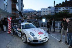 La Porsche 911 GT3 RS de Romain Dumas et Denis Giraudet, le 25 octobre 2017 à Sion