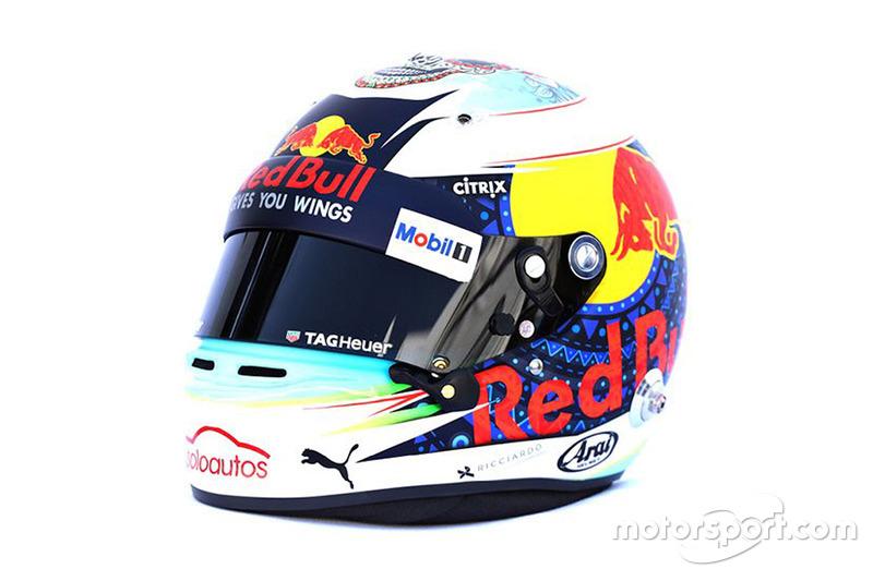 Casque spécial de Daniel Ricciardo, Red Bull Racing